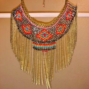 Colorful festival necklace